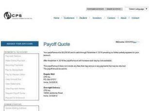 Cps Auto Finance >> Cps Finance Auto Lien Holder Address Find A Car